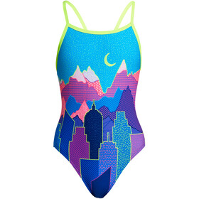 Funkita Single Strap One Piece Badpak Meisjes, metropolis